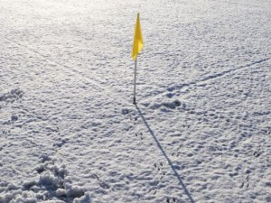 winter-voetbal-cornervlag